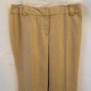 WORTHINGTON PETITE 14 P WHEAT TAN PANTS CUFFED